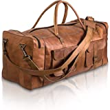 KPL Large 32 inch duffel bags for men holdall lether travel bag overnight gym sports weekend bag