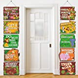 Blulu 10 Pieces Jungle Animals Party Signs Wild Animals Welcome Door Sign Zoo Animals Cutout for Theme Party Birthday Party B