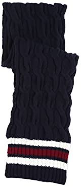 Cable Stripe Scarf 11-45-0216-247: Navy