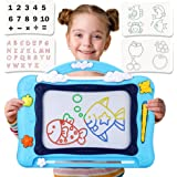 Large Magnetic Drawing Board for Kids, Colourful Erasable Magna Doodle with Stamps Writing Painting Sketch Pad for Toddler Bi