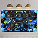 Video Game Happy Birthday Backdrop Game on Birthday Party Backdrop Banner Gaming Theme Party Photography Background Photo Pro