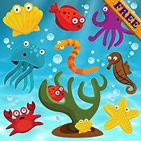 幼児や子供のための無料の魚のパズル