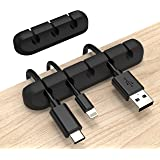 INCHOR Cord Organizer, Cable Clips Cord Holder, Cable Management USB Cable Power Wire Cord Clips, 2 Packs Cable Organizers fo