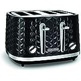 Morphy Richards Vector 4 Slice Toaster 248131 Black Four Slice Toaster Black Toaster