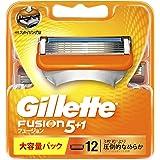 ジレット フュージョン5+1 マニュアル 髭剃り 替刃 単品 12コ入