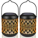 LeiDrail Solar Lantern Lights Outdoor Tabletop Yard Décor for Party Table Pathway Garden Yard Sun Powered LED Hanging Lightin