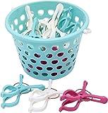 全家協 洗濯バサミ UVブロック剤配合 竿用ピンチ 15個入り かご入り