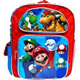 "Super Mario 12"" Toddler School Backpack Boy's Book Bag"