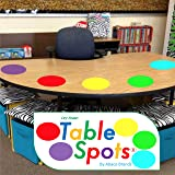 New Larger Size!   The Original Table Spots for Teachers   No Staining, No Shadowing, Complete Erase! Dry Erase, 10 Pack Mult
