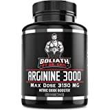 Dr. Emil - L Arginine (3150mg) Highest Capsule Dose - Nitric Oxide Supplement for Muscle Growth, Vascularity, Endurance and H