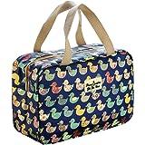 Toiletry Bag for Women & Girl, Waterproof Bathroom Shower Bag, Portable Travel Make Up Organizer. (Navy Duck)