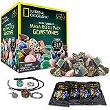 National Geographic Rock Tumbler Mega Refill Kit - 3lbs Gemstones of 9 Varieties Including Tiger's Eye, Amethyst & Quartz - 4