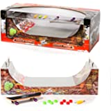 Grip & Tricks - RAMPS Finger Skate - Halfpipe - Fingerboard - Cruiser Board : Dimensions: 28 X 12 X 10 cm