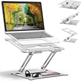 Adjustable Laptop Stand Oli & Ode Table Stand Portable Ergonomic Notebook Stand with Heat-Vent, Heavy Duty Laptop Holder Comp