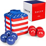 Premium 90mm Bocce Ball Set with Nylon Carrying Case - Durable Outdoor Lawn Games for Adults and Kids - Portable Backyard Gam