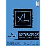 Canson XL Series Watercolor Textured Paper Pad for Paint, Pencil, Ink, Charcoal, Pastel, and Acrylic, Fold Over, 140 Pound, 9