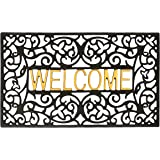 GB HOME COLLECTION gbHome GH-6759A Entrance Doormat, Waterproof PVC Welcome Door Mat w/Non-Slip Backing, Easy to Clean Stylis