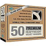 Closet Complete 71541 Premium Quality Velvet Hangers, Ivory Set of 50