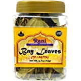 Rani Bay Leaf (Leaves) Whole Spice Hand Selected Extra Large 40g (1.4oz) PET Jar, All Natural ~ Gluten Free Ingredients   Non
