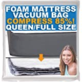 Vacuum Sealable Mattress Bag for Memory Foam Mattresses, Compression and Storage for Moving and Returns, Leakproof Valve and