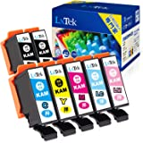 【LxTek】Epson用 カメ インクカートリッジ エプソン対応 KAM-6CL-L + KAM-BK-L 7本パック(6色セット+黒1本 )インク 『互換インク/増量/説明書付/残量表示/個包装/2年保証』対応機種:EP-882AW EP-882