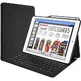 """ProCase iPad Pro 12.9"""" キーボードケース [ペンホルダー付き] スリム スマートカバー スタンドケース ワイヤレスキーボード 適用機種: iPad Pro 12.9"""" 第1世代 2015 / 第2世代 2017 - ブラック"""