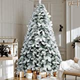 2.1M Christmas Tree 7FT Xmas Faux Snowy Tree Thick Foliage Jingle Jollys Holiday Decoration Indoor Décor Home Office Classroo