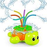 Outdoor Sprinkler for Kids - Backyard Rotating Turtle Sprinkler with Swing Tube - Splashing Toy for Summer - Outside Garden L
