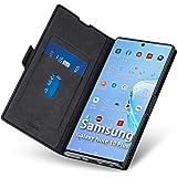 Samsung Galaxy note10 plus ケース手帳型 薄型 スマホカバー PUレザー 全面保護 マグネット付き ワイヤレス充電対応 カード収納 スタンド機能 ストラップホール付き シンプル おしゃれ (ギャラクシーnote10plusケ