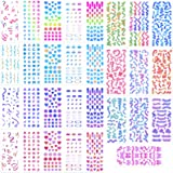 30 Sheets Colorful Ribbon Stickers Small Letter Stickers Confetti DIY Deco Stickers Korean Stickers Star Love Heart Alphabet