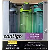 Contigo Spill-Proof Water Bottles 24oz, BPA Free, Set of 3 (Aqua, Lagoon, Vib Lime)