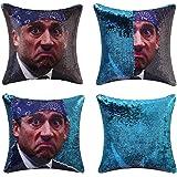 cygnus Reversible Sequin Pillowcover The Office Prison Mike Quote Humor Sequin Mermaid Flip Pillow Case That Color Change Dec