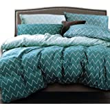 Essina Microfiber Queen Quilt Cover Duvet Cover Doona Cover Set 3pc Arcadia Collection, Soft and Lightweight, Tiara Green