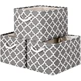 WISELIFE Storage Basket [3-Pack] Large Collapsible Storage Bins Boxes Cubes for Clothes Toys Books, Perfect Storage Organizer