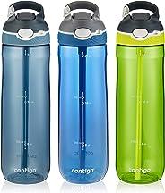 Contigo AUTOSPOUT Straw Ashland Water Bottle, 24 oz, Stormy Weather/Vibrant Lime/Monaco, 3-pack