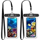"""JOTO Waterproof Phone Pouchup to 7.0"""", Full Transparent Universal Cellphone Dry Bag Underwater Case for iPhone 13 Pro Max 12"""