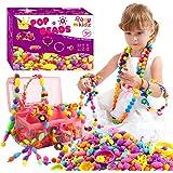 ROSYKIDZ Snap Pop Beads for Girls Toys - 600PCS Kids Jewelry Making Kit Pop-Bead Art and Craft Kits DIY Bracelets Necklace Ha