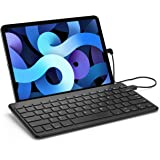 ProCase Slim Wired Keyboard for Type-C Port iPad/Android Tablets and Phones, Lightweight Low Profile Wired USB-C Keyboard wit