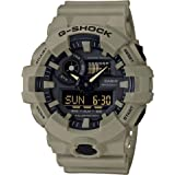 Casio Men's G SHOCK Quartz Watch with Resin Strap, Beige, 25.8 (Model: GA-700UC-5ACR