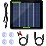 ECO-WORTHY 12 Volt 5 Watt Solar Trickle Charger for 12V Batteries Portable Power Solar Panel Battery Charger Maintainer for C