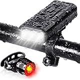 (5200mAh大容量 USB充電式)自転車 ライト 防水 LED 800ルーメン モバイルバッテリー機能付き テールライト付き 3つ調光モード クロスバイク ロードバイク ライト キャンプ ハイキング サイクリング 懐中電灯 犬散歩 日本語説明書付き
