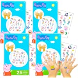 Peppa Pig Tattoos Party Favors Pack ~ Bundle Includes 150 Peppa Pig Temporary Tattoos (Peppa Pig Party Supplies)