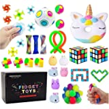 Sensory Toys Set, Stress Relief Fidget Toys Pack for Adults Kids, Party Toys, Birthday Party Favors, Pinata Fillers, Classroo