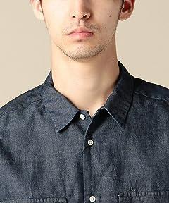 Patch & Flap Pocket Denim Shirt 1216-149-2152: Navy