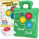 deMoca Quiet Book Montessori Toys for Toddlers – Travel Toy – Educational Toy with Toddler Activities Busy Book for Boys & Gi
