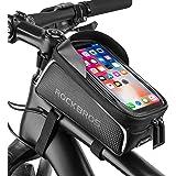 ROCKBROS Bike Phone Bag Bike Front Frame Bag Waterproof Bicycle Phone Mount Bag Phone Case Holder Cycling Top Tube Frame Bag