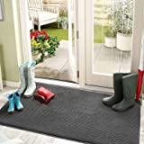 """Color&Geometry Indoor Doormat 24""""x36"""" Non Slip Backing Machine Washable Super Absorbent Inside Mats, Low-Profile Rug Doormats"""