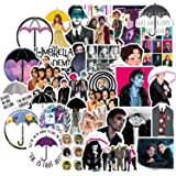 The Umbrella Academy Stickers 50PCS, American TV Series Sticker Pack, Vinyl Decals for Laptop, Water Bottle, Car, Skateboard,