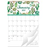 "2021 Calendar - 12 Months Wall Calendar 2021, 12"" x 17"", Jan 2021 -Dec 2021, Flexible with Julian Date, Colorful Monthly Cale"