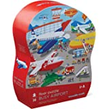 """Crocodile Creek 4076-4 Busy Airport Observational Jigsaw Floor Puzzle (36 Pieces), 27"""" x 20"""", Blue/Green/Orange/Red/Pink"""